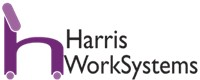 Harris WorkSystem_s purple chair logo