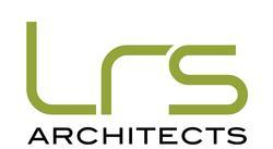 LRS in big green text_ architects in black text