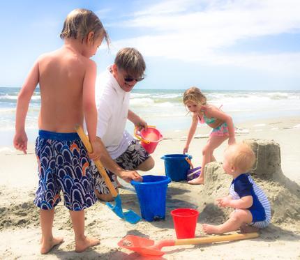 family on the beach on Hilton Head Island