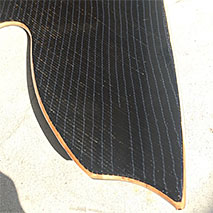 Snowboard made with basalt fabric