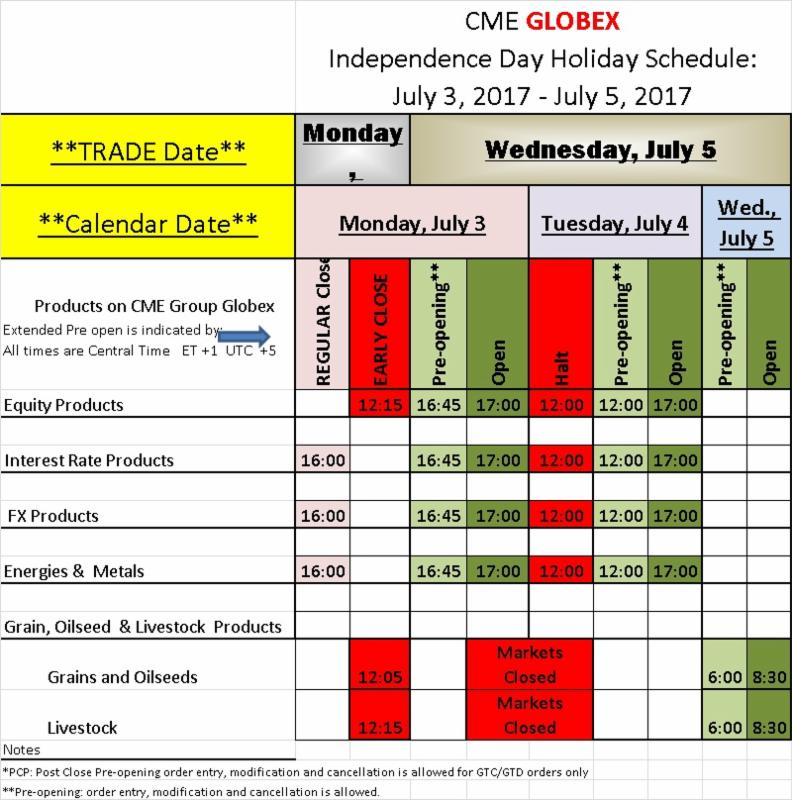 Independence Day 2017 Holiday Schedule