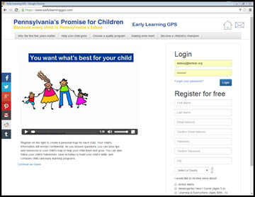 Login to the Early Learning GPS