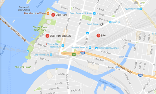 Long Island City Approximate Location with Parking Info