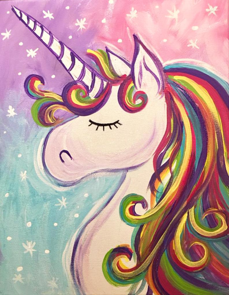 Rainbow Unicorn Mommy Me Paint Night The Pitch Tuesday July 3rd