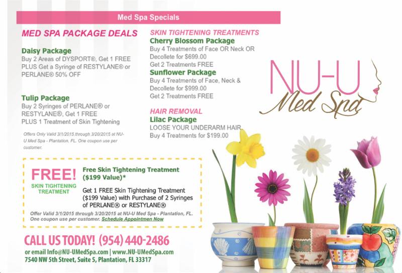 Skin Tightening Treatments, Skin Tightening Treatments Spring Forward Laser Launch Specials – EXPIRED, NU-UMED SPA, NU-UMED SPA
