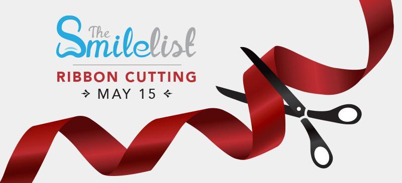 Smilelist Ribbon Cutting graphic