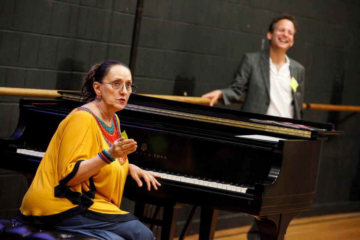 Jeanie teaching with Eli