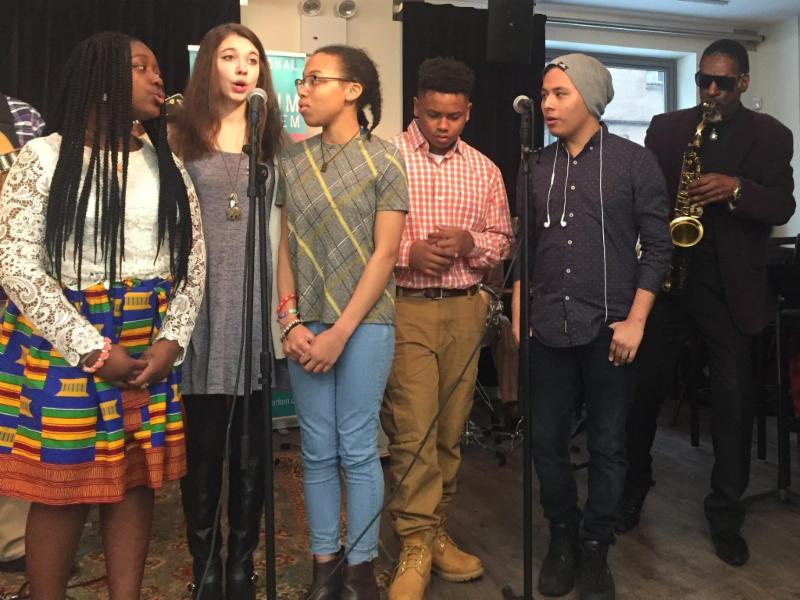 Zah! sings at Intergenerational Jam