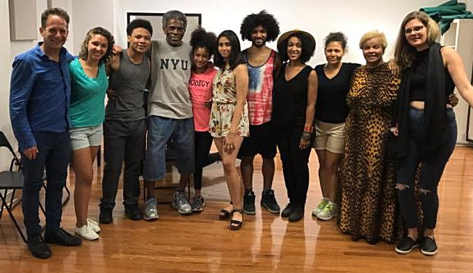Andre De Shields visits rehearsal
