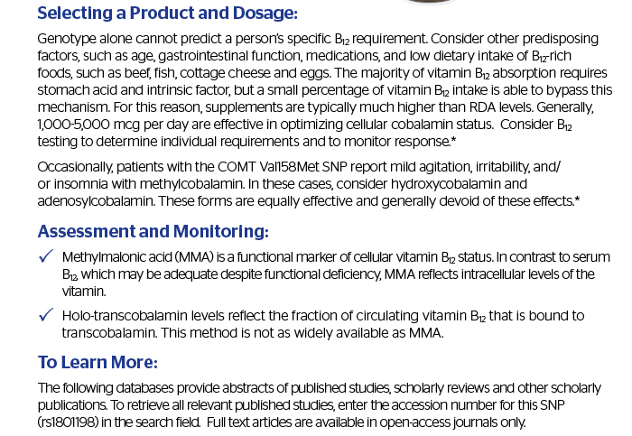 Selecting a Product and Dosage