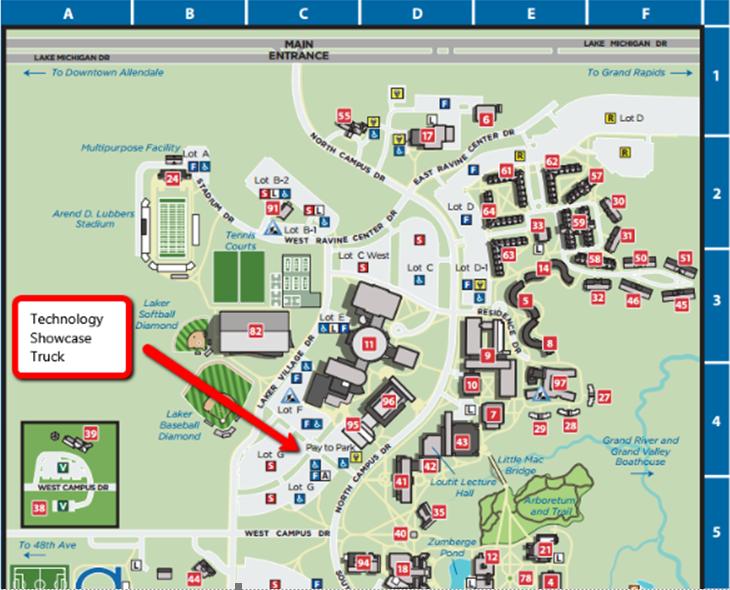Gvsu Campus Map 2016.Tech Show Tour Grand Valley State University