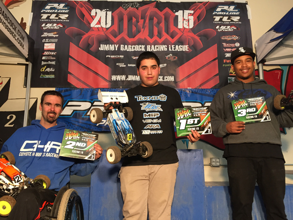 1/8 Scale Buggy A Main at Coyote Hobbies Raceway Round 2 2015 JBRL Electric Series