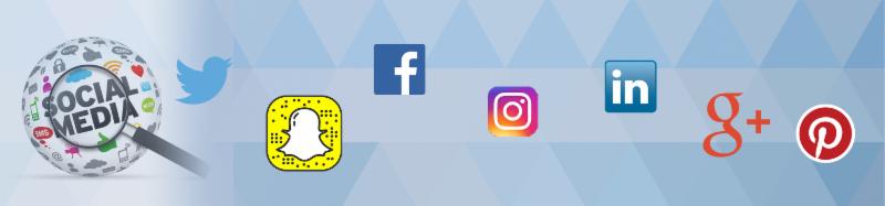 social media heading
