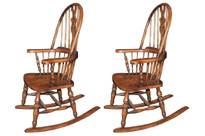 Hand Carved English Windsor Rocking Chair
