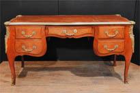 Antique French Empire Knee Hole Pedestal Desk
