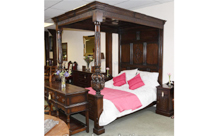 Large Oak Jacobean 4 Poster Bed