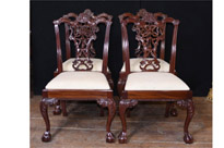 Set Chippendale Dining Chairs