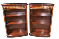 Pair Regency Open Bookcases