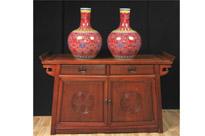 Pair Chinese Jingdezhen Porcelain Vases