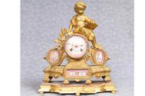 Antique French Gilt Mantle Clock