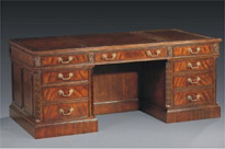 Victorian Mahogany Desk Leather Topped