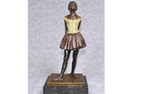 French Bronze Degas Ballerina Girl Statue