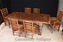 Refectory Table Ladderback Chairs Dining Suite