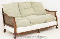 Mahogany Chippendale Caned Settee