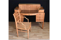 Regency Bamboo Desk and Chair Set