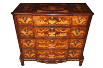 Antique Dutch Marquetry Chest of Drawers 1840