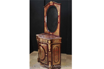 French Boulle Inlay Cabinet and Mirror Stand
