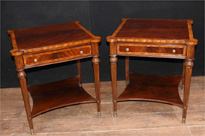 Pair Regency Mahogany Side Tables