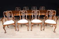 Set 8 Walnut George II Dining Chairs