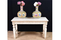 Hand Carved Chinese Bone Console Table