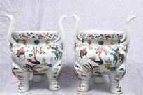 Pair Chinese Qianlong Jars