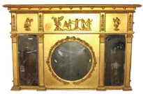 Antique Regency 1815 Gilt Mantle Mirror