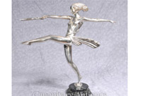 Art Deco Silver Plate Bronze Diana the Hunter