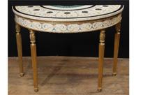 Single Adams Demi Lune Console Table