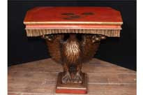 Antique Chinese Lacquer American Eagle Console Table