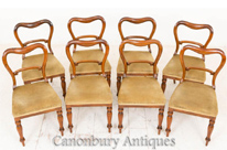 Set 8 Victorian Dining Chairs