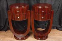 Pair Art Deco Bedside Tables Chests