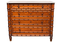 Antique French Regency Commode Chest Drawers