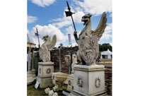 Pair Giant Stone Griffins Gryphons