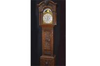 Victorian Oak Grandfather Clock