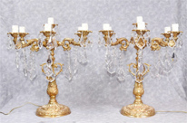 Pair Louis XVI Gilt Candelabras