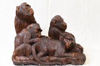 Hand Carved Black Forest Monkey Carving