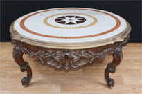 Carved Italian Rococo Coffee Table