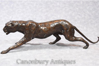 Art Deco Bronze Cheetah Statue