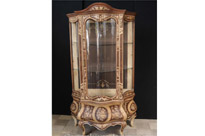 French Louis XVI Display Cabinet Marqeutry Inlay