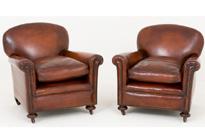 Pair Art Deco Club Chairs